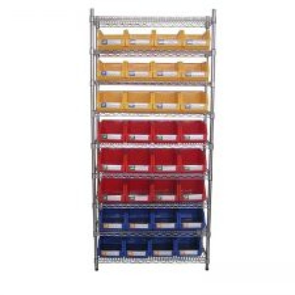 Wire Shelving With Storage Bins