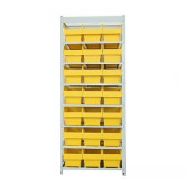 Steel Shelving With Shelfull Bins