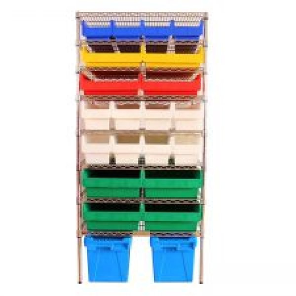 Wire Shelving With Shelfull Bins