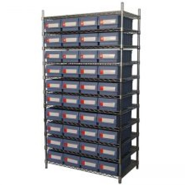 Wire Shelving With Shelf Bins